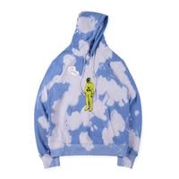 Plegie Tie dyeing Travis Scott Astroworld Tour Astronaut Hooded Unisex Hoodies Sweatshirts Mens ASTROWORLD Pullover tops