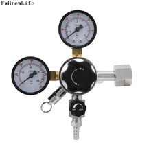 Home Brew Dual Gauge CO2 Regulator Keg Beer Soda Gas Regulator W21.8 CGA320 with 5/16'' Barbed & Safety Relief Valve 0-3000 PSI(China)