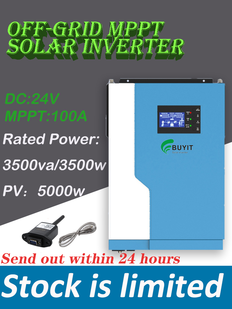 3500w fora da grade inversor solar 24vdc 100a hibrido inversor potencia nominal 3500va pv 5000w com
