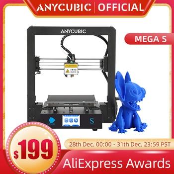 ANYCUBIC-Impresora 3D de alta precisión, marco de Metal completo, I3 Mega S
