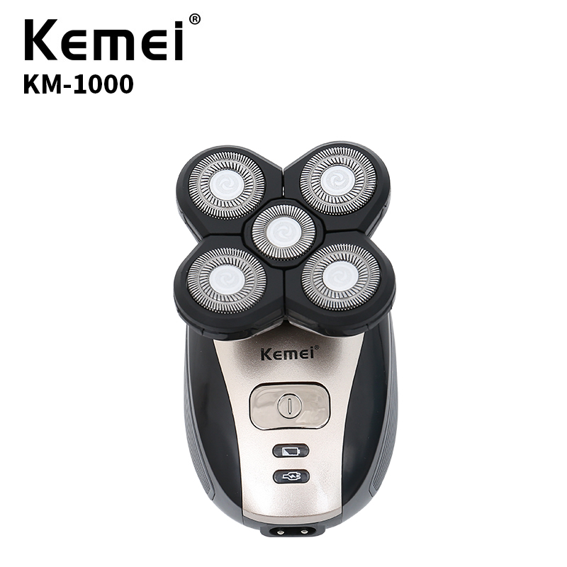 Replace Razor Head Kemei KM-1000 Electric Shaver 5D Independent Floating Head Waterproof Stainless Steel Razor Blade KM-1000