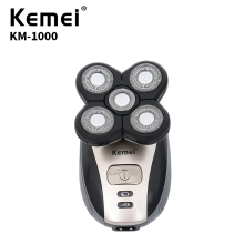 Replace Razor Head Kemei KM-1000 Electric Shaver 5D Independent Floating Head Waterproof Stainless Steel Razor Blade KM-1000 цены онлайн