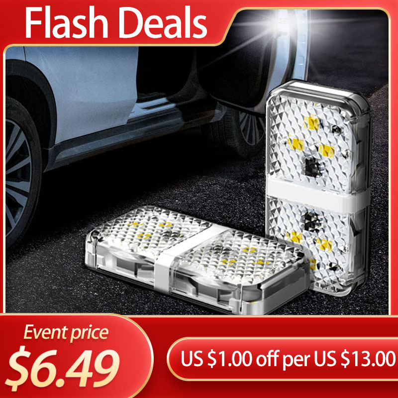 Baseus Car Door Opening Warning Lights Waterproof 6 LED Safety Lamps Auto Open Sticker Safety Flashing Warn Light Anti Collision