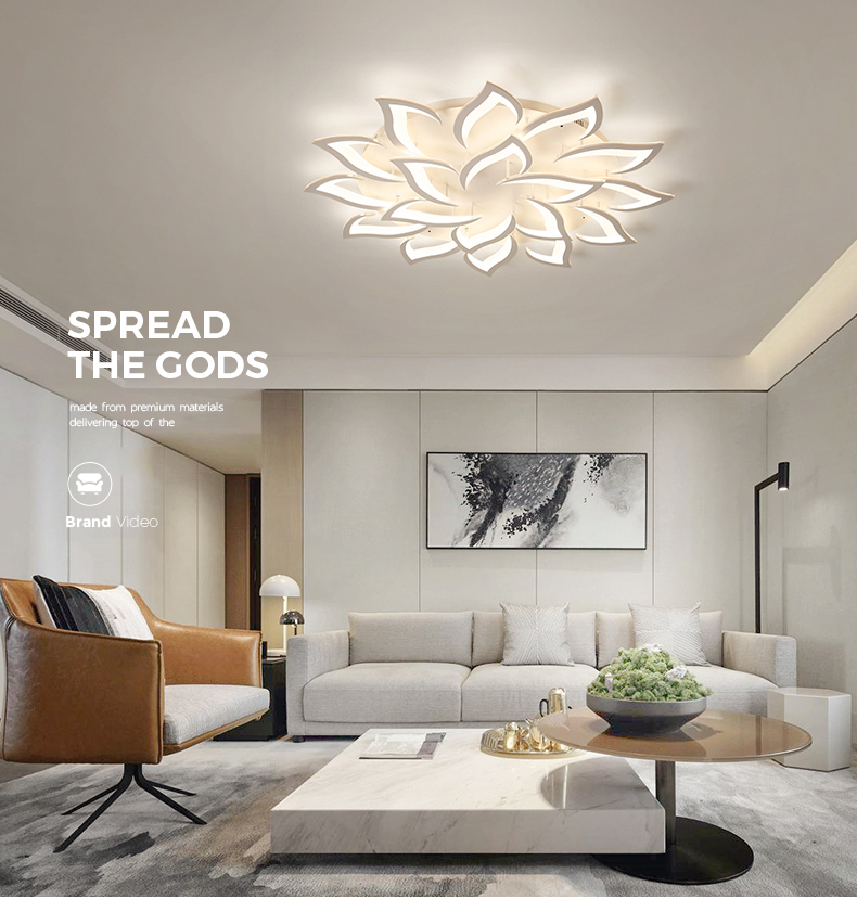 Hfb6ab0e9729f4f79bccbeed43e5fbad4L IRALAN modern led ceiling lights for living room kitchen bedroom kids' room  dimmable lamp art deco fixture with remote control
