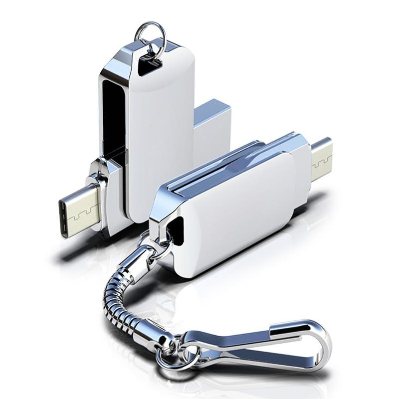 360 Rotation Stick OTG Typ C 32GB 16GB 128GB USB-Stick Typ C Für Smart Telefon tablet 64GB Pen Drive Für Android-Handy