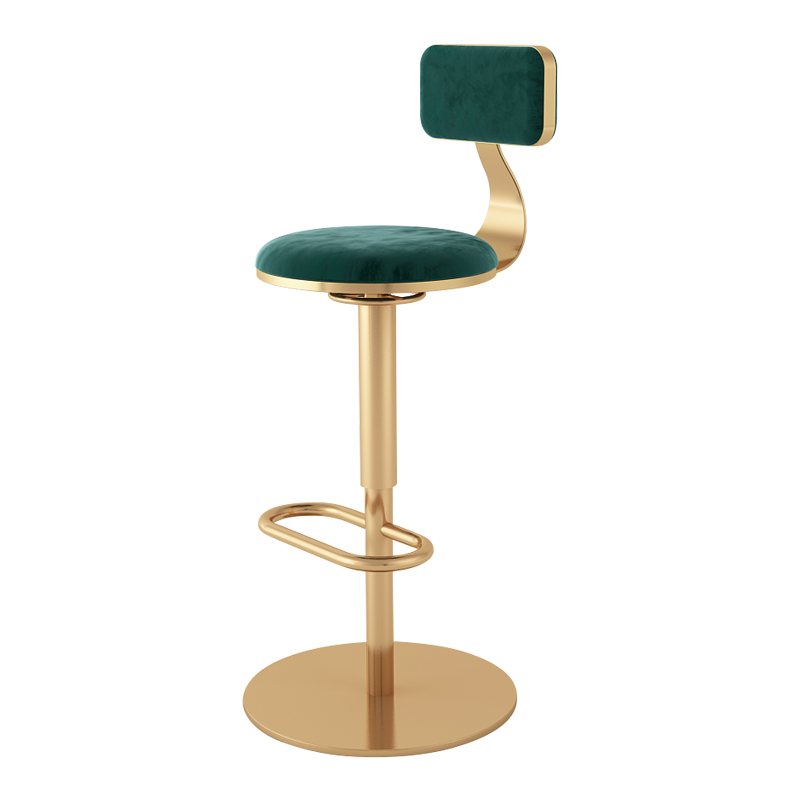 Northern Europe Light Luxury Home Back Bar Chair Milk Tea Shop  Front Desk Lift High  Rotating Round  Stool