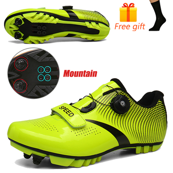Discolor Cycling Shoes Man MTB Mountain Bike Shoes SPD Cleats Road Bicycle Shoes Sports Outdoor Training Cycle Sneakers 18