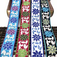 5cm Ethnic10Yards Jacquard Lace Trim Embroidered Ribbons Shoes Hats Clothing Embroidery Accessories