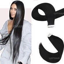 30 дюймов бразильская прямая лента для наращивания человеческих волос 100 г 40 шт. шелковистые прямые волосы машинное изготовление невидимая л...