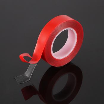 Taśma akrylowa samochodowa czerwona dwustronna taśma klejąca o wysokiej wytrzymałości akrylowa przezroczysta nie pozostawiające śladów naklejki taśma wnętrze auta samochodu naprawiono tanie i dobre opinie CN (pochodzenie) Elektryczne Car acrylic tape Taśma elektryczna