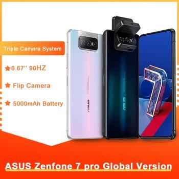 Перейти на Алиэкспресс и купить Глобальная версия смартфона ASUS Zenfone 7 Pro, 8 RAM, 256 ROM, Snapdragon 865 Plus, 5000 мАч, NFC, Android Q, тройная откидная камера, 5G телефона