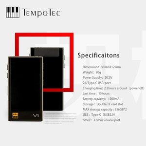 Image 3 - MP3 Player TempoTec V1 A Variations HIFI PCM&DSD 256 Support Bluetooth LDAC AAC APTX IN&OUT USB DAC For PC With ASIO AK4377ECB