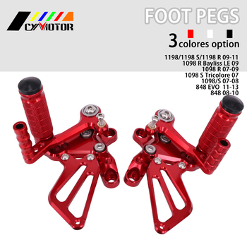 Motorcycle CNC Adjustable Foot Pegs Footpeg For Ducati 1198 1098 S R 848 EVO Tricolore Bayliss LE 2007 2008 2009 2010 11 12 13