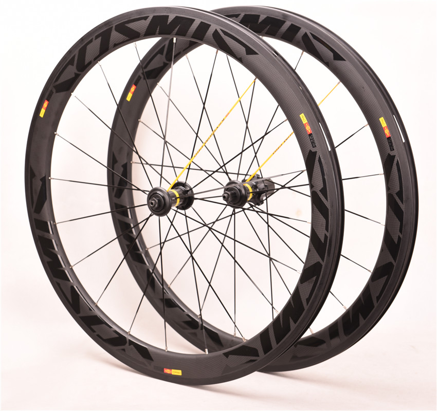Road Bike <font><b>700C</b></font> Wheelset Carbon Fiber Hub Ceramic Bearing 3K Twill BOB SL Cosmic Disc V Brake Wheels 38/50mm <font><b>Rim</b></font> 25mm Width image