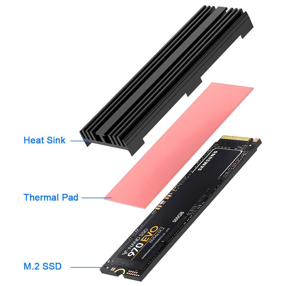 Rocketek M.2 A Stato Solido Hard Disk Dissipatore Dissipatore di Calore di Raffreddamento Del Radiatore Del Silicone Therma Pastiglie di Raffreddamento per M2 NVME SATA NGFF 2280 PCIE SSD