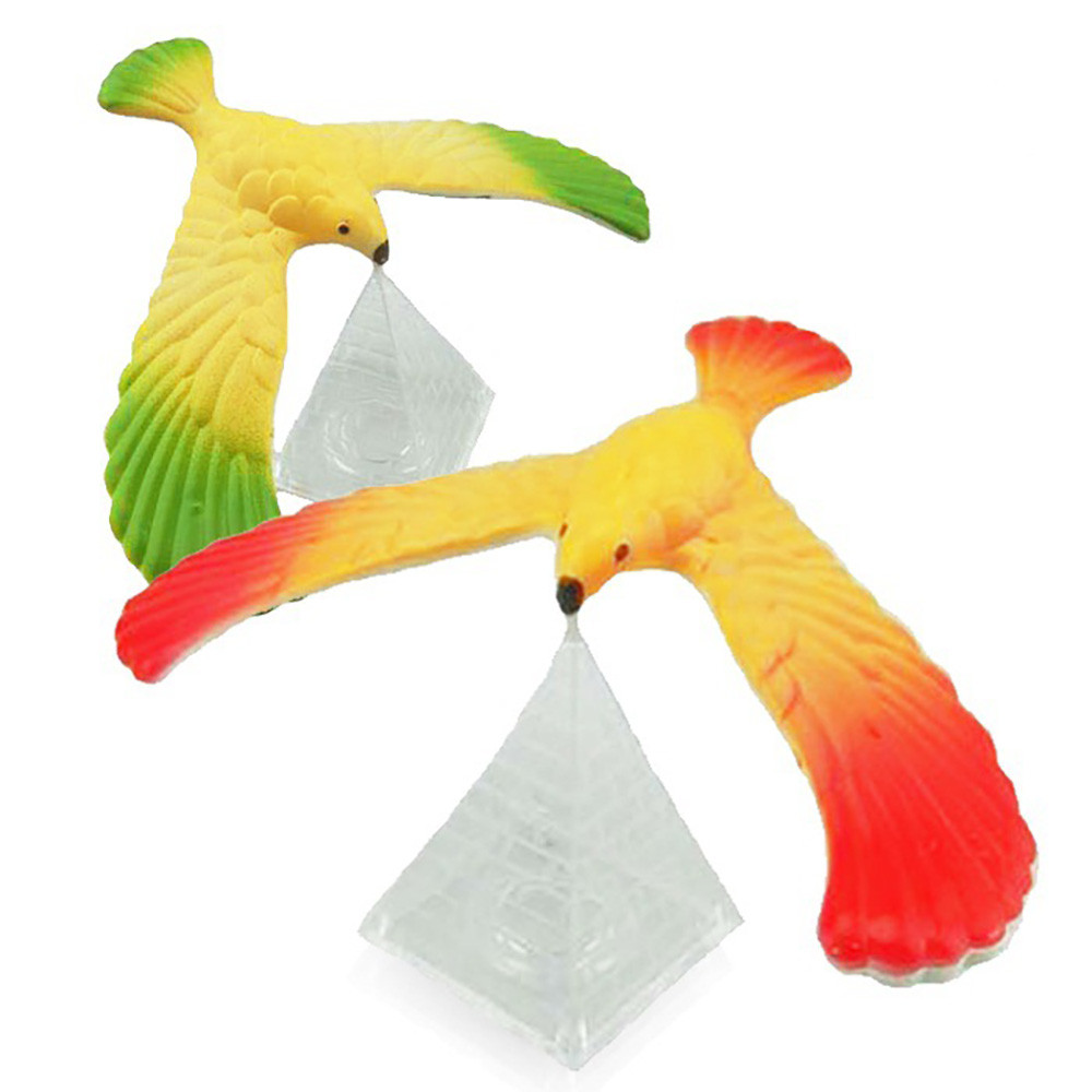 2020 Funny Amazing Balancing Eagle With Pyramid Stand Magic Bird Desk Kids Toys Fun Learn  Dropshipping