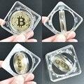 40 мм Золотой Биткоин монета с отжимом вращательного показаны чехол Litecoin Eth хпр криптовалюта металлические монеты для коллекции