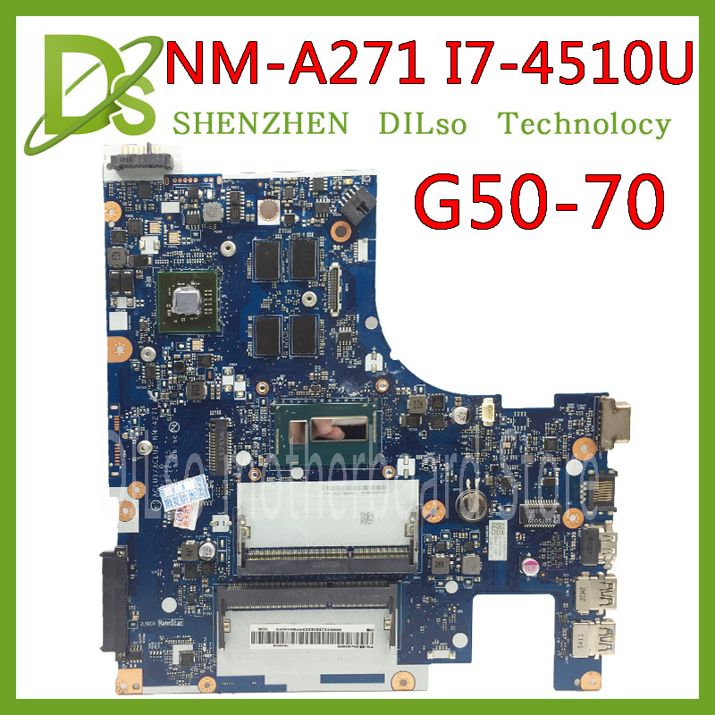 KEFU G50-70 For Lenovo G50-70 Z50-70 I7 Motherboard ACLU1/ACLU2 NM-A271 Rev1.0  With Graphics Card Test