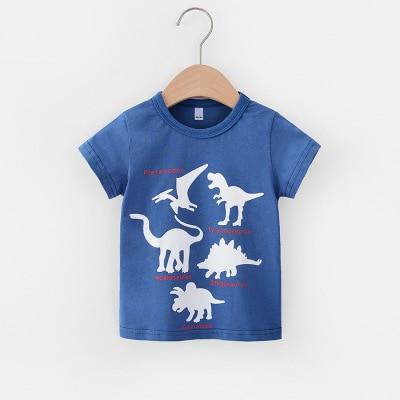 VIDMID 2-6Y boys Clothing Summer Children Infant Kid Boys shirts basic Cartoon Dinosaur Letter T-shirt Tops Shirts Tees 4018 31 6