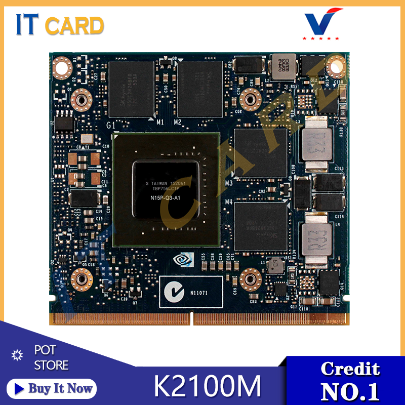 Quadro K2100M K2100 GDDR5 2GB Video Graphics Card N15P-Q3-A1 For Dell M4800 HP 8560W 8570W 8770W ZBook 15 17 G1 G2 100% Test OK image