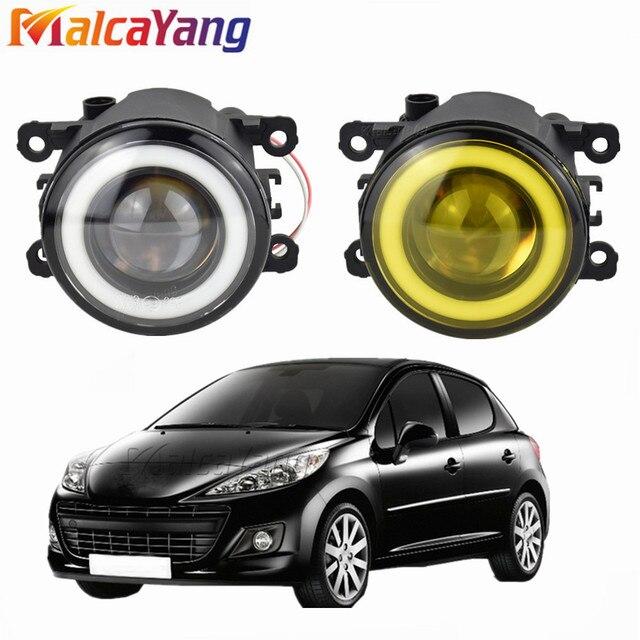 2 pcs/pair (שמאל + ימין) מלאך עיניים רכב סטיילינג ערפל מנורות LED אורות עבור פיג ו 207 SW ן WK _ 2007 2009 2010 2011 2012