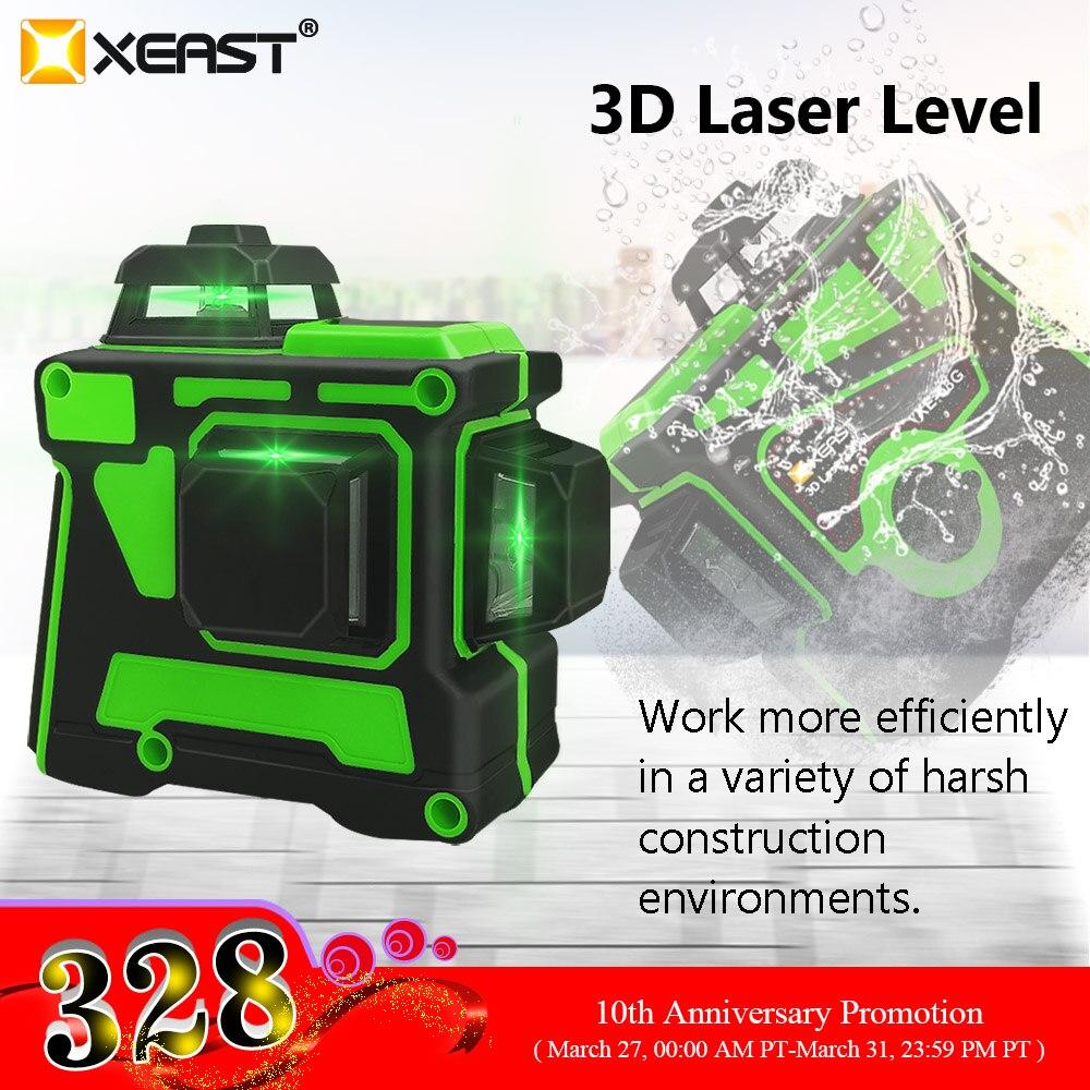 XEAST XE-63G Professionelle Laser 3D 12 Linie Super Starke Grünes Licht Kann Wand Ebene