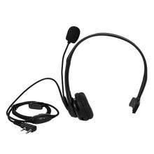 цена на 2 PIN PTT Mic Headphone Headset for KENWOOD RETEVIS BAOFENG UV5R 5R/888S