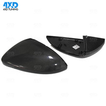 цена на For Volkswagen Golf MK57 Carbon Fiber Morrir Cover Free replacement style 2009 2010 2011 2012 2013 2014