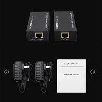 Metal Transmitter Signal Amplifier Black LAN Conversion Extension HDMI Extender Adapter Receiver CAT6 RJ45 Ethernet Port 1080P