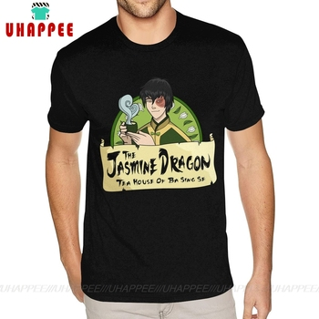 80s The Jasmine Dragon Tees Avatar Last Airbender Tee Shirts T For Boyfriend Plus Size Black Shirt - discount item  46% OFF Tops & Tees