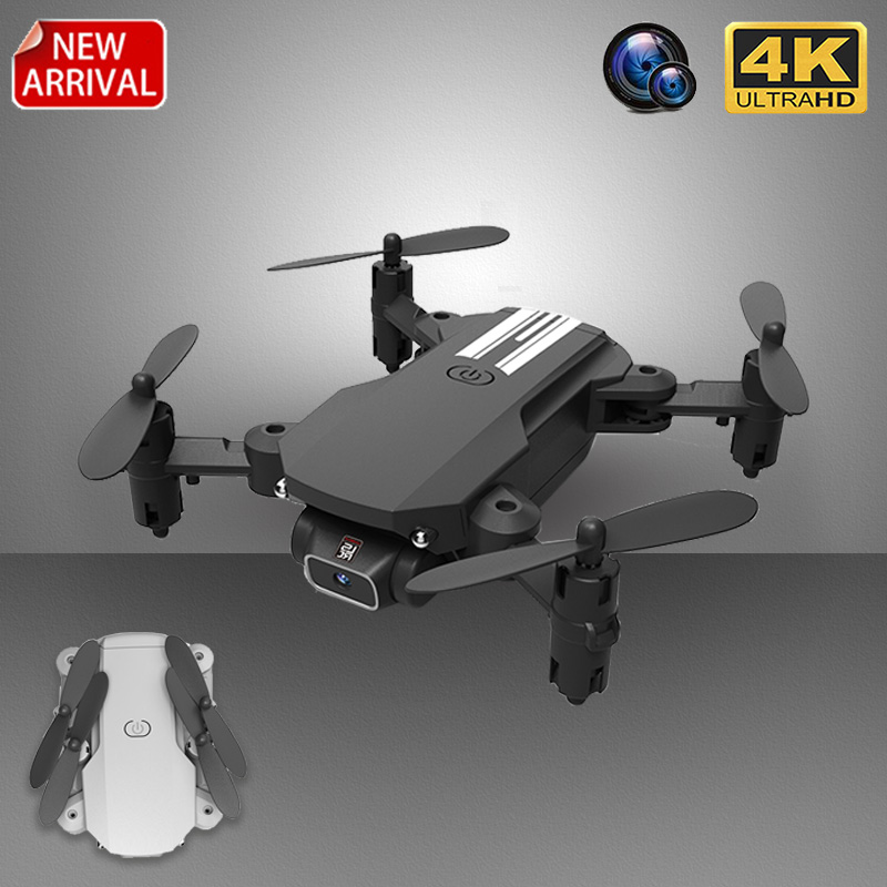 XKJ 2020 New Mini Drone 4K 1080P HD Camera WiFi Fpv Air Pressure Altitude Hold Black And Gray Foldable Quadcopter RC Drone Toy