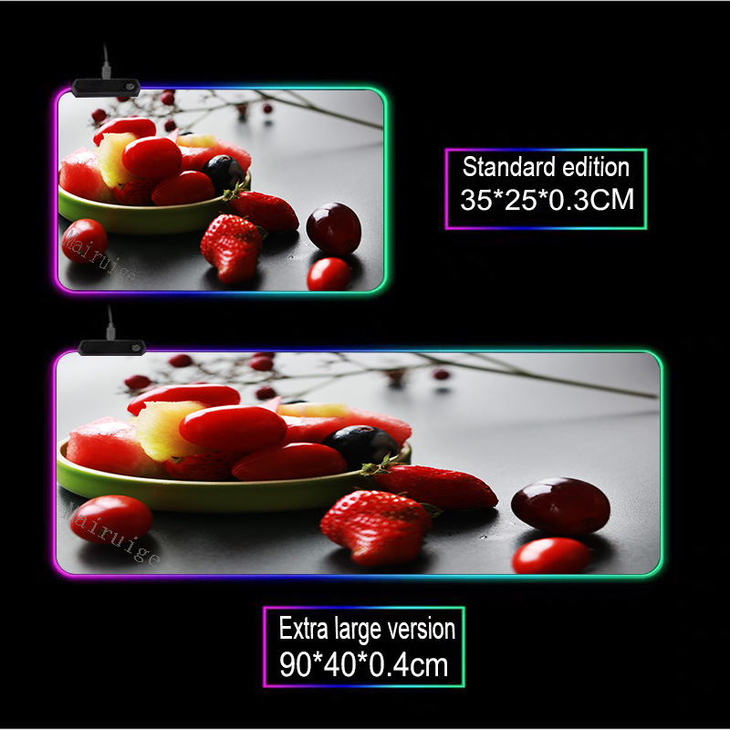 Mairuige красный фрукты Клубника фиолетовый виноград rgb компьютерный