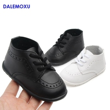 Spring and Autumn Baby Popular Solid Color PU Shoes Casual Infant Toddler Boy Girl Soft Sole Crib Trainer Sneaker 0-1 Years Old