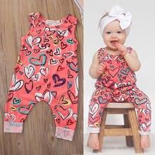 Pudcoco criança bebê recém-nascido meninas macacões infantil crianças roupas da menina sem mangas macacão floral impressão outfit 0-24m