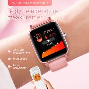 Image 1 - T98 Smartwatch قياس درجة حرارة الجسم مراقب معدل ضربات القلب مقاوم للماء يمكن ارتداؤها جهاز بلوتوث ساعة ذكية لنظام أندرويد IOS