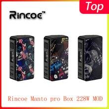 Новейшая модель Rincoe Manto pro Box 228 Вт, питание от 18650 батарей, электронная сигарета Vape MOD vs Cigpet Capo/Dovpo mvv