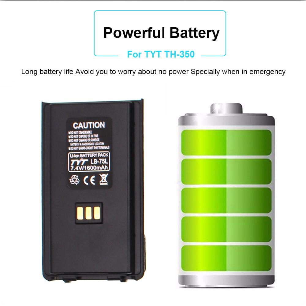 Origianll TYT Li Ion Battery 7.4V 1600mAh For TYT TH-350 Walkie Talkie