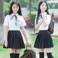 2019 japanese jk sets school uniform girls sakura Pleated Skirt Full Sets women novelty sailor suits Navy style Students clothes
