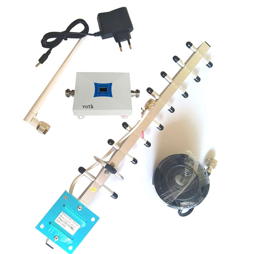 NEW 3G Signal Repeater W-CDMA 2100Mhz Mobile Phone 3G Signal Booster , WCDMA 3G 3g Signal Amplifier +Yagi Antenna 50ohm Cable