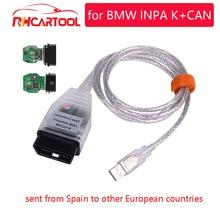 OBD2 для BMW INPA K+ CAN с FTDI FT232RL чип OBD2 кабель диагностический инструмент INPA K+ DCAN Поддержка K линии для BMW от 1998 до 2013