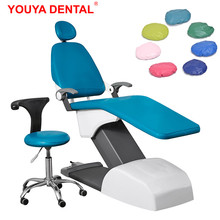 4pcs/set Dental Chair Cover High Elastic Polyester / PU Leather Waterproof Dental Unit Seat Covers Dentist Chair Protective Case