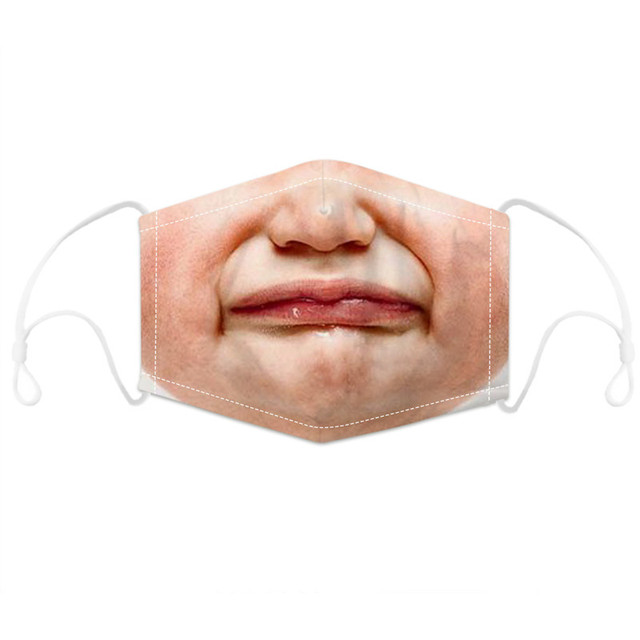 3D Printing mouth Mask Reusable Protective PM2.5 Filter Paper Mask anti dust Face mask bacteria proof flu Mask 2