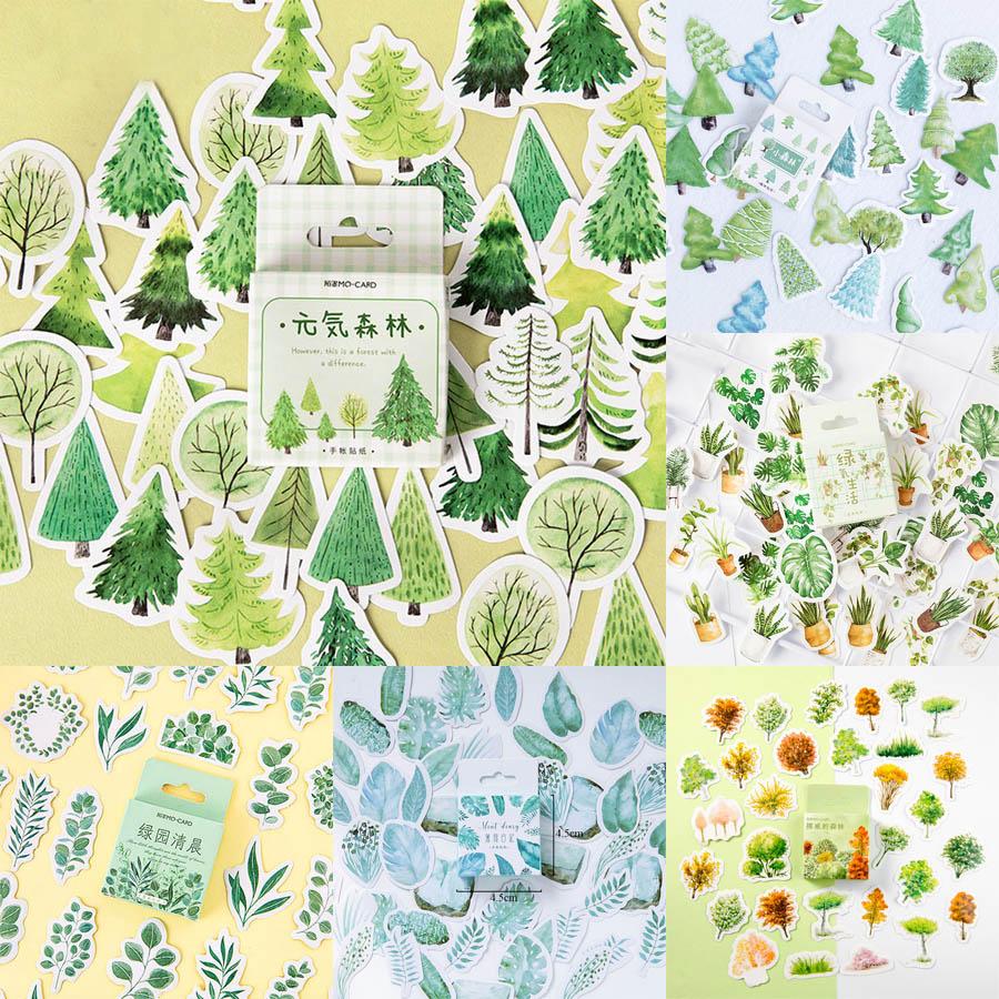 45Pcs//box Creative Moon Diary Paper Sticker Scrapbooking Label Sticker Adhesive