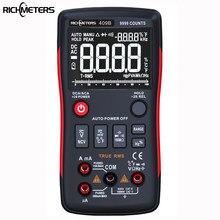 Richmeters rm409b true-rms multímetro digital botão 9999 contagens com gráfico de barras analógico ac/dc tensão amperímetro corrente ohm