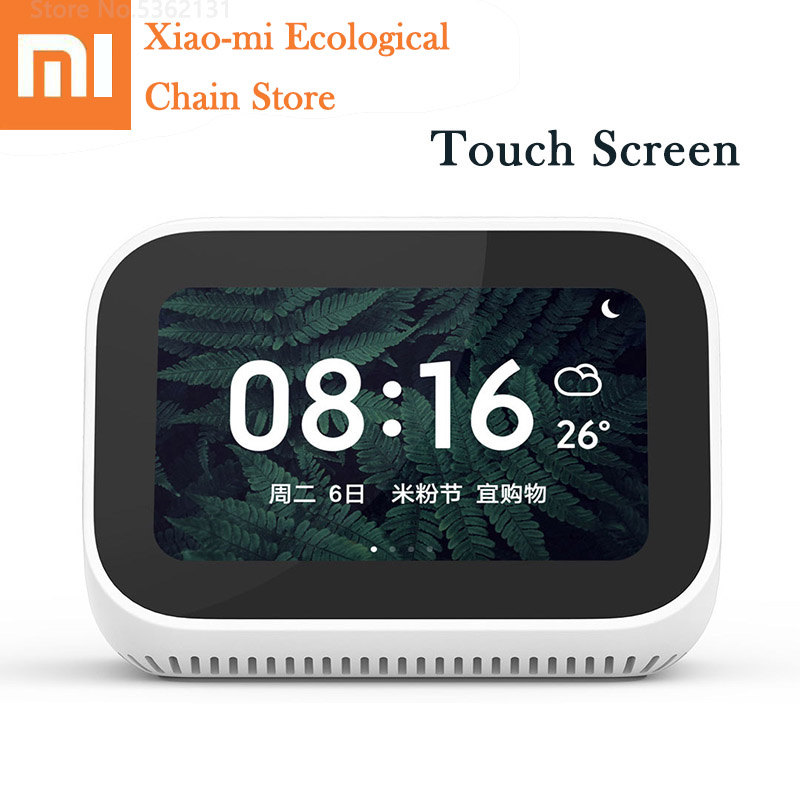 Xiaomi AI Touch Screen Speaker Bluetooth 5.0 Voice Call 3.97 Inch Digital Display Alarm Clock WiFi Smart Connection Smart Home