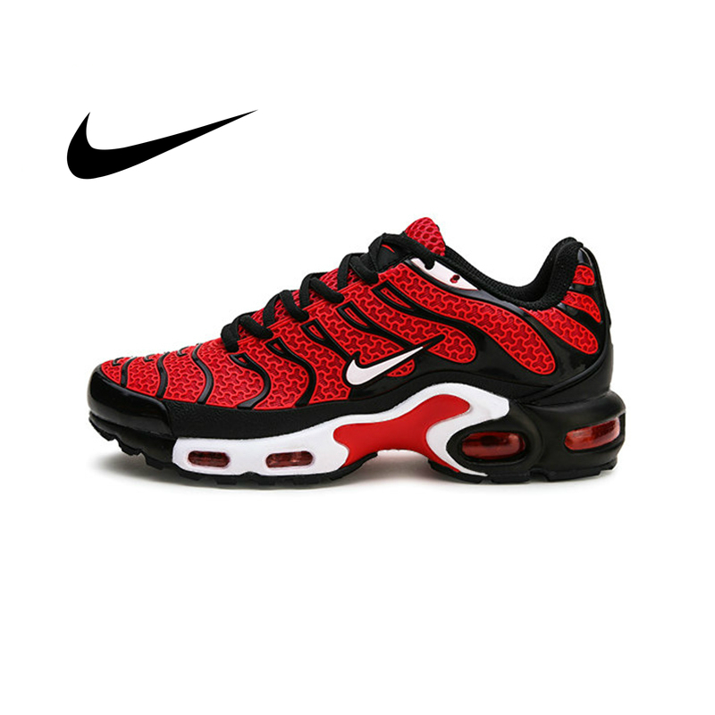 Original Nike Air Max Plus TN Men's Running Shoes Breathable Anti-slippery Shock Absorption Durable Outdoor Sports Sneakers