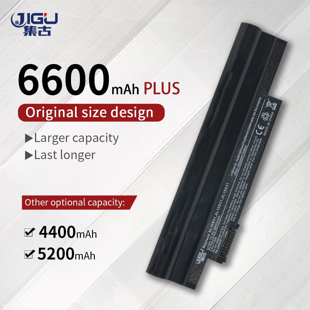 JIGU AL10A31 AL10B31 AL10G31 Laptop <font><b>Battery</b></font> For <font><b>Acer</b></font> <font><b>Aspire</b></font> <font><b>One</b></font> 522 <font><b>722</b></font> AOD255 AOD257 AOD260 D255 D257E D260 D270 LT23 LT2304C image