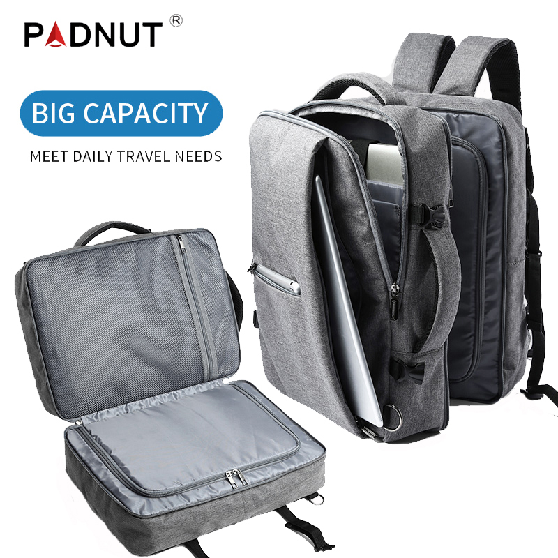 Men Business Travel Double Compartment Backpacks Multi-Layer With Unique Digital Bag For 15.6 Inch Laptop Mens Backpack Man Bags