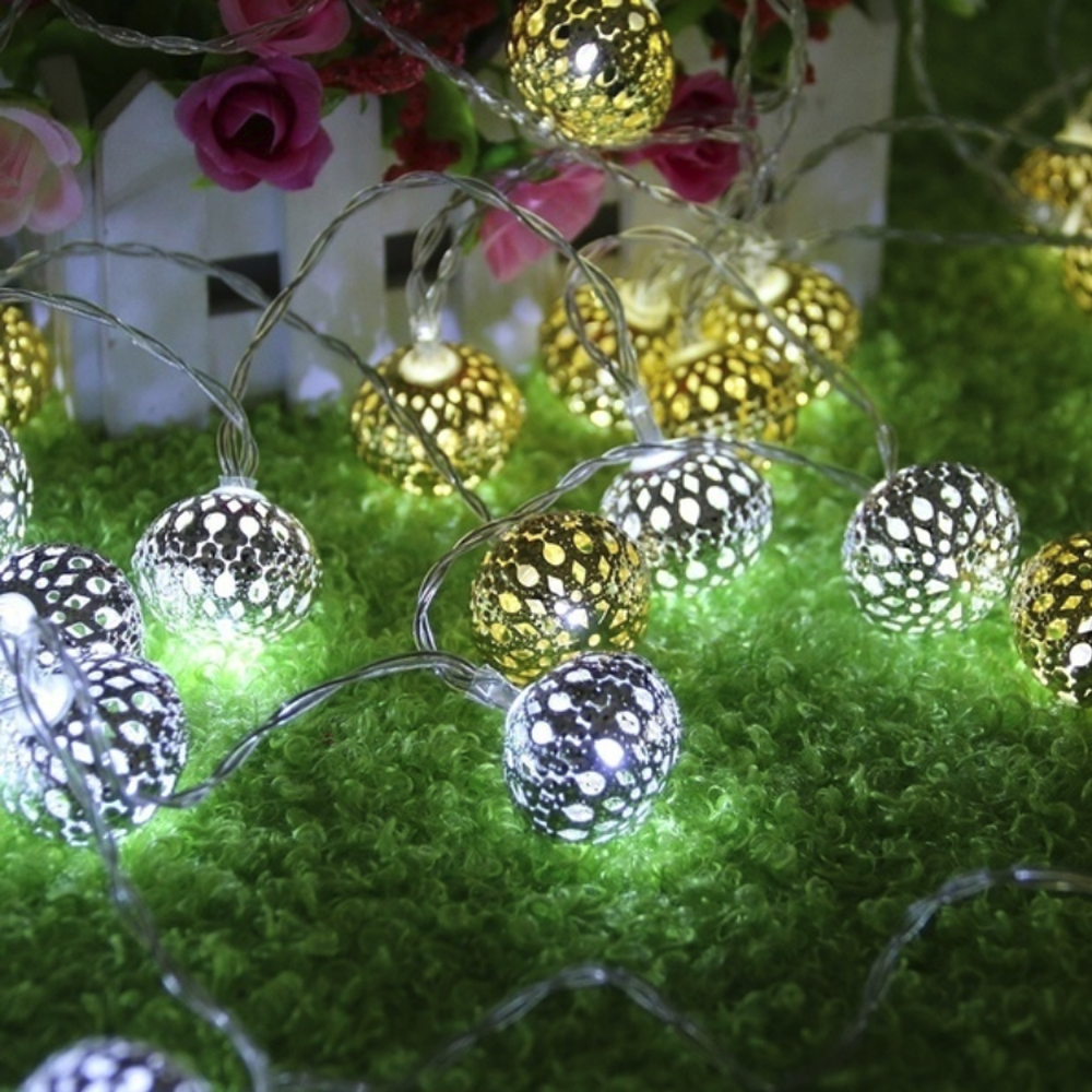 Fairy String Lights Ball Lights String LED String Lights Wedding Xmas Party Festival Moroccan With Battery Box Beautiful