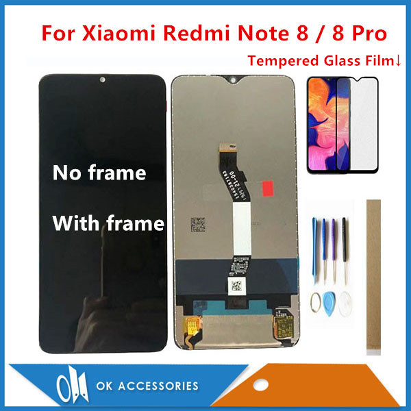 Original Quality For <font><b>Xiaomi</b></font> <font><b>Redmi</b></font> Note <font><b>8</b></font> / <font><b>8</b></font> Pro LCD <font><b>Display</b></font> With Touch Screen Glass Sensor Digitizer With Frame With Kits image